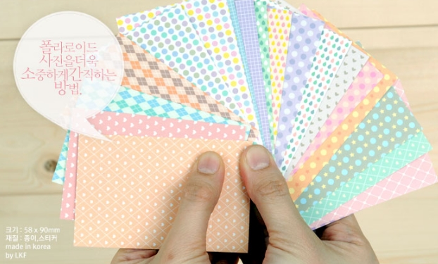 [Polaroid Film Skin]-Milky Pastel color pattern