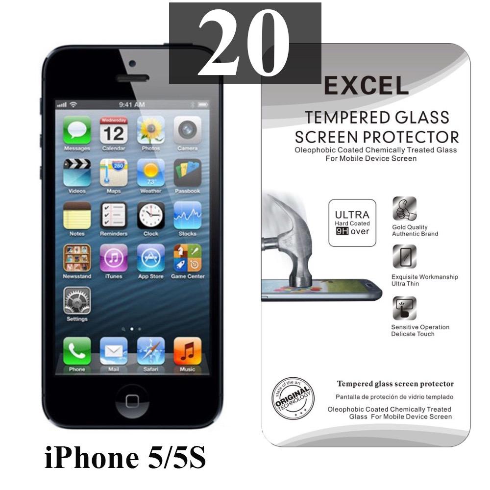 ฟิล์มกระจก iPhone 5 | ฟิล์มกระจก iPhone 5s/5c/SE Excel แผ่นละ 18 บาท (แพ็ค 20)