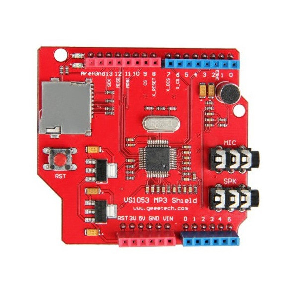Arduino MP3 Shield Board with TF Card (GEEETECH)