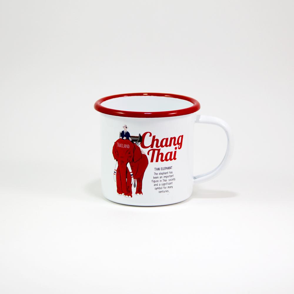 """Iconic Thai Enamel Mug """"Chang Thai"""""""