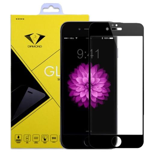 ฟิล์มกระจกนิรภัย iPhone 6 Plus แบบเต็มจอ สีดำ ยี่ห้อ Diamond