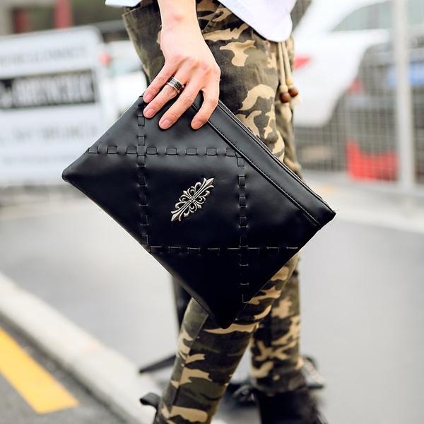Pre-order กระเป๋าถือครัทช์ผู้ชาย แฟชั่นเกาหลี รหัส Man-6421