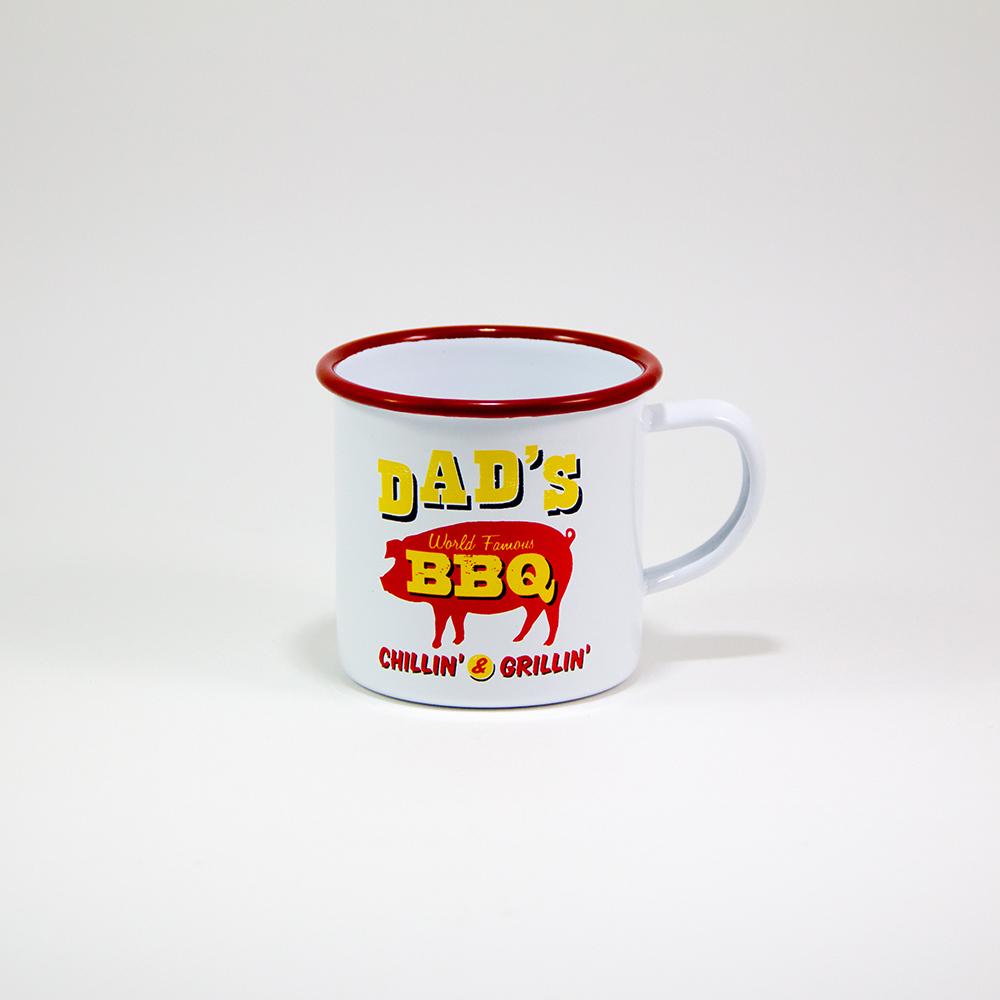 Enamel Mug ''DAD'S BBQ''