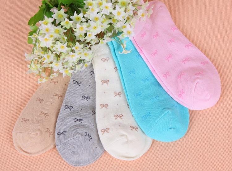 S345 **พร้อมส่ง** (ปลีก+ส่ง) ถุงเท้าแฟชั่นเกาหลี ข้อสั้น คละ 5 สี มี 12 คู่/แพ็ค เนื้อดี งานนำเข้า(Made in China)