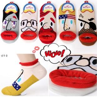 S006 -C**พร้อมส่ง**(ปลีก+ส่ง) ถุงเท้า แฟชั่นเกาหลี ลายอารมณ์ มี 12 แบบ เนื้อดี งานนำเข้า(Made in china)