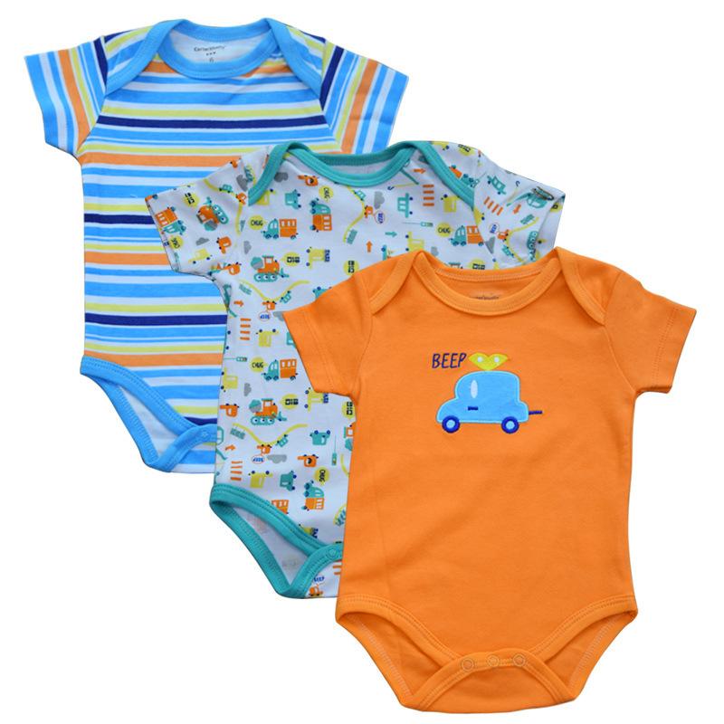 พร้อมส่ง gift set ชุดทารกใช้ได้ทั้งเพศหญิง-ชาย Jumpsuit Romper จั้มสูทแขนสั้น รหัส T-66034 ไซร์ 3M (เด็ก 0-3 เดือน ) /1 แพ็ค 3 ชุดสุ่มแบบ ชุดละ 95บาท