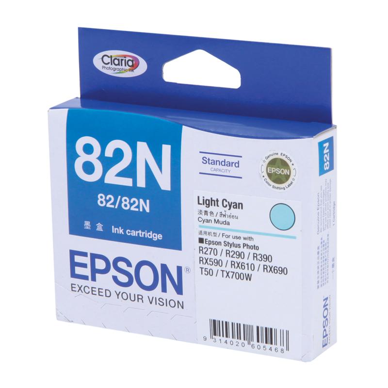 Epson T112590 (82N) หมึกพิมพ์อิงค์เจ็ต สีฟ้าอ่อน