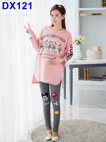 #เสื้อคลุมท้องสีชมพู ลายการ์ตูน น่ารักเหมาะกับฤดูหนาวนี้ค่ะ ผ้าเนื้อดี ใส่สบายค่ะ