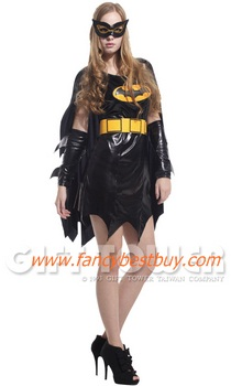 ชุดแฟนซีผู้หญิง ชุดแบทเกิร์ล Bat Women ขนาดฟรีไซด์