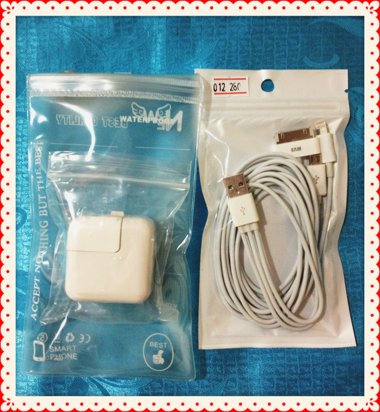 Adapter+ สายชาร์จ 3 หัว
