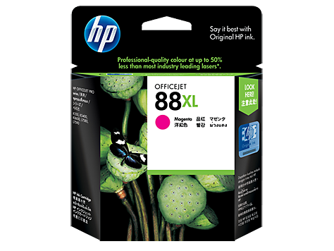 HP 88XL ตลับหมึกอิงค์เจ็ท สีม่วงแดง High Yield Magenta Original Ink Cartridge (C9392A)