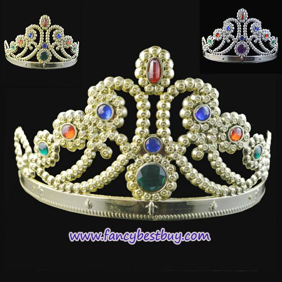 มงกุฎเจ้าหญิง สีทอง สำหรับประกอบชุดเจ้าหญิง สำหรับรอบศรีษะ 52 - 57 ซม. สูง 12 ซม. (ขายคู่กับชุดแฟนซี)