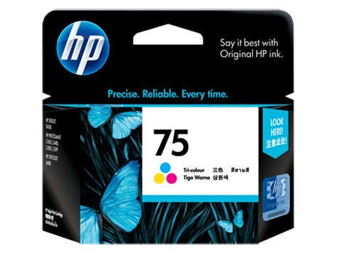 HP 75 ตลับหมึกอิงค์เจ็ท 3สี Tri-Color Original Ink Cartridge (CB337WA)