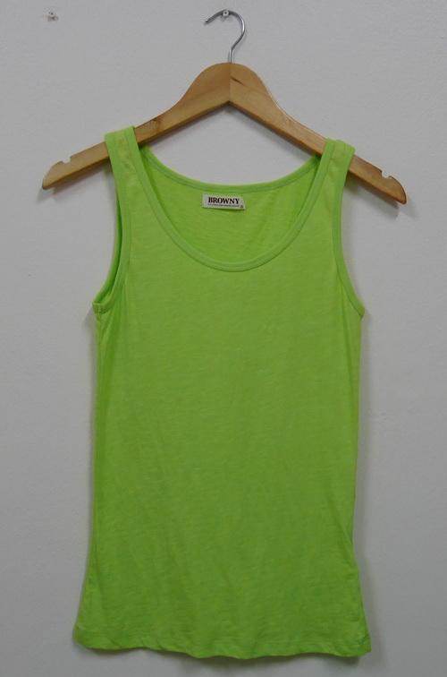 Jp4061 เสื้อกล้ามผ้ายืดสีเขียว รอบอก 30-34 นิ้ว