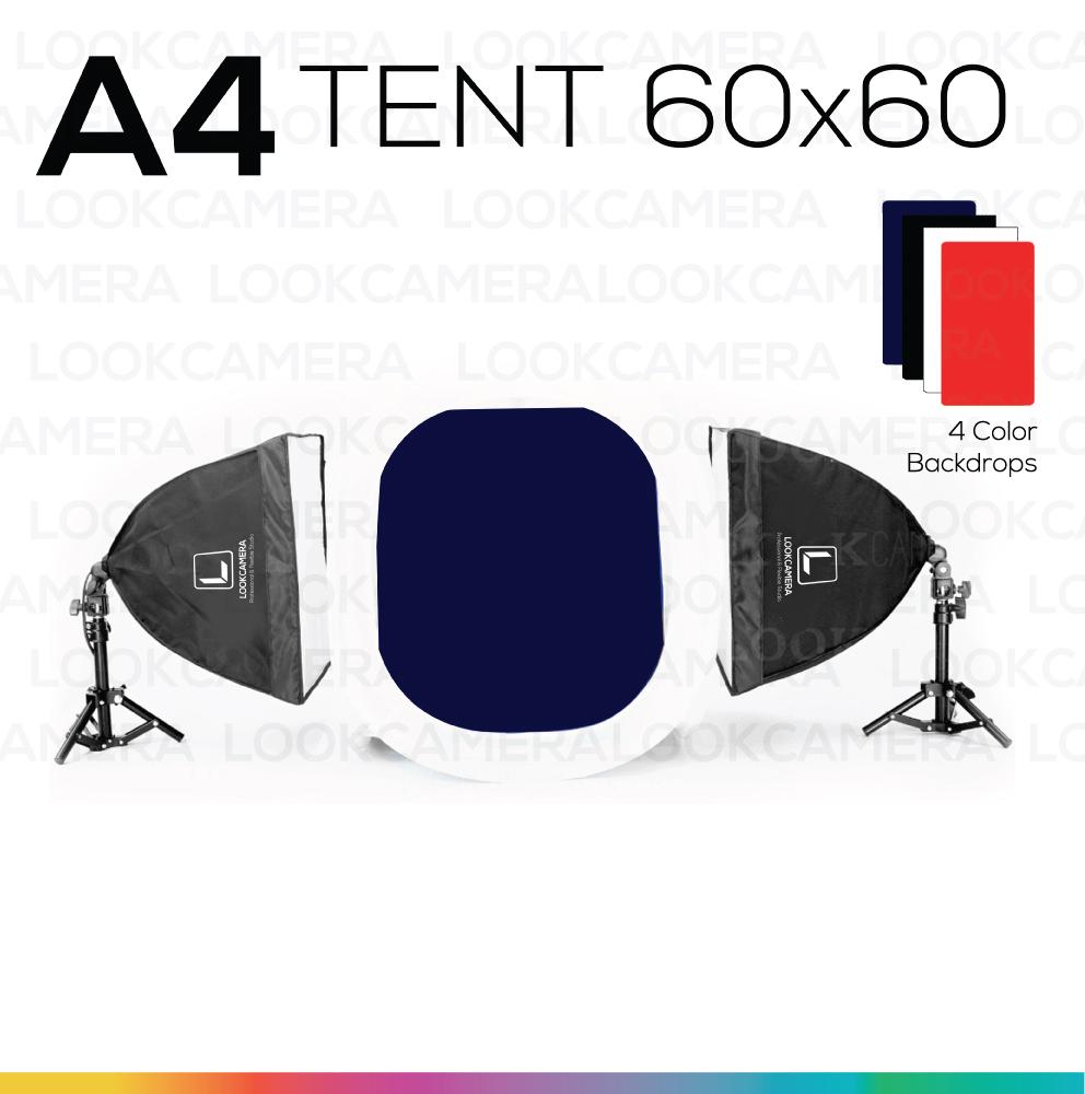 A4 TENT 60x60 ชุดไฟแสงนุ่ม ถ่ายภาพสินค้า ถ่ายภาพถุงชา ถุงกาแฟ ถ่ายภาพของเล่น ถ่ายภาพอุปกรณ์สำนักงาน ถ่ายภาพครีม เครื่องสำอาง ถ่ายภาพของใช้ภายในบ้าน