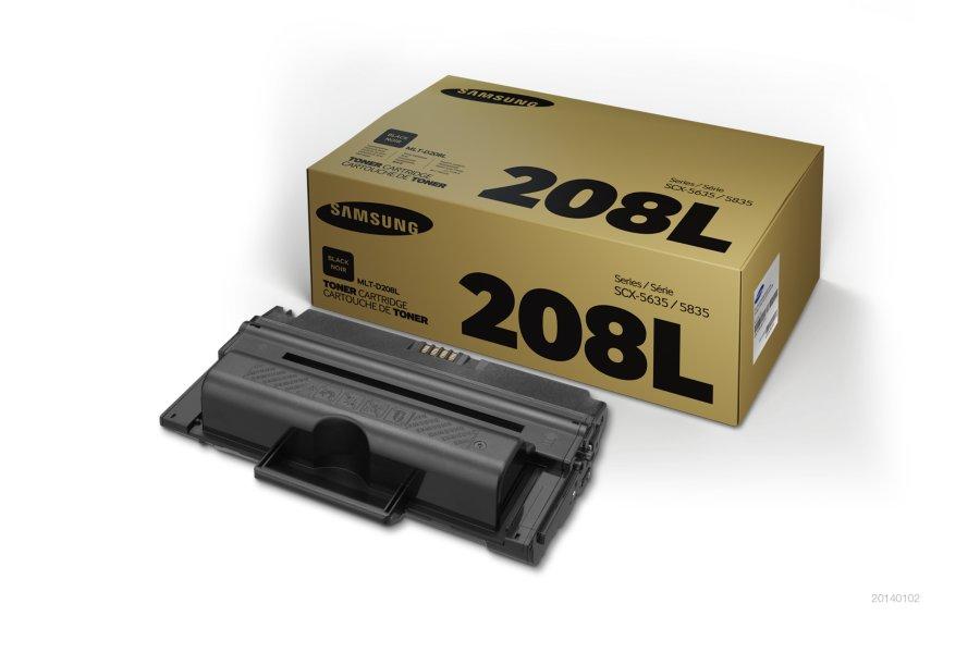 Samsung MLT-D208L ตลับหมึกโทนเนอร์ สีดำ ของแท้ Black Original Toner Cartridge (SU989A)