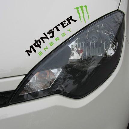 สติ๊กเกอร์ติดรถยนต์ Monster Energy ตัวอักษรดำ (32x9CM)