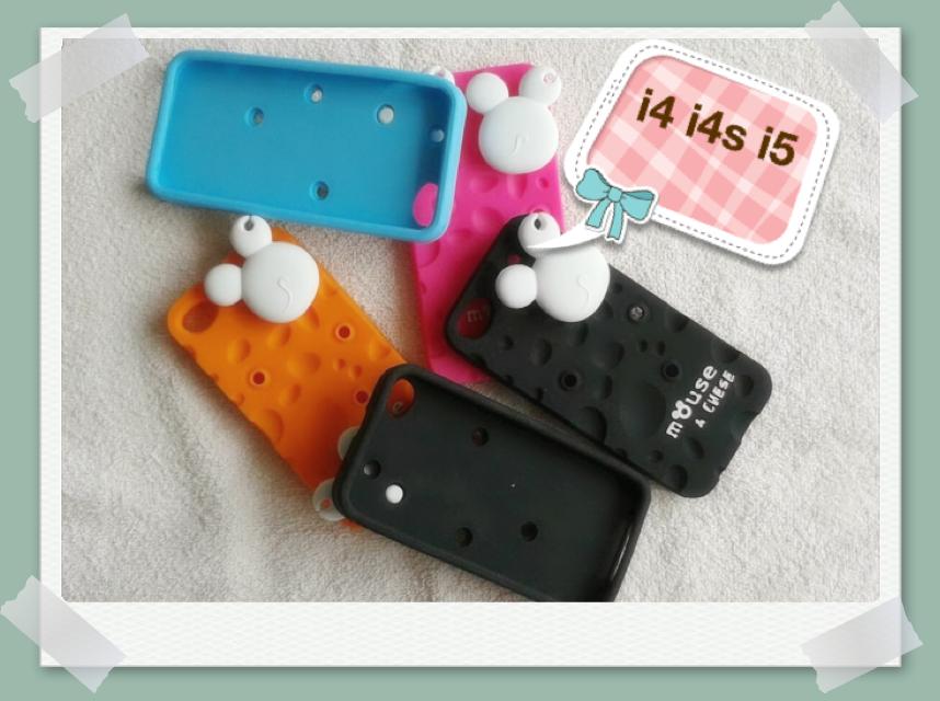 เคส Mouse Chese silicone case for iphone 4,4S,5