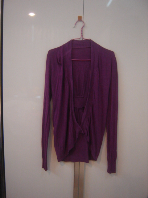 เสื้อคลุมตัวยาวสีม่วง แบบสวย