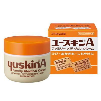 Yuskin A Cream 70g ครีมสารพัดประโยชน์ สำหรับทุกคนในครอบครัว เป็นครีมที่ได้รับความนิยมมากในญี่ปุ่น สามารถใช้ได้กับทุกส่วนของร่างกายตั้งแต่ แก้ปากแห้งแตกยันส้นเท้าแตกระแหงเลย ใช้ได้ทั้งเด็ก และ ผู้ใหญ่ อุดมไปด้วยสารบำรุงผิวจาก Vitamin C, VitaminB2 และ ไฮยาร