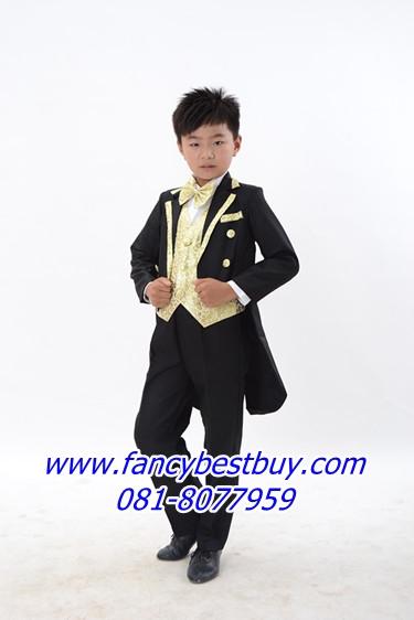 ชุดสูทเด็กชาย สำหรับออกงาน และ การแสดงดนตรี ขนาด 130 (สำหรับสูง 120-130 ซม)