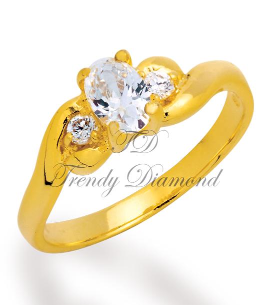 แหวนเพชรทิวลิป สีทอง