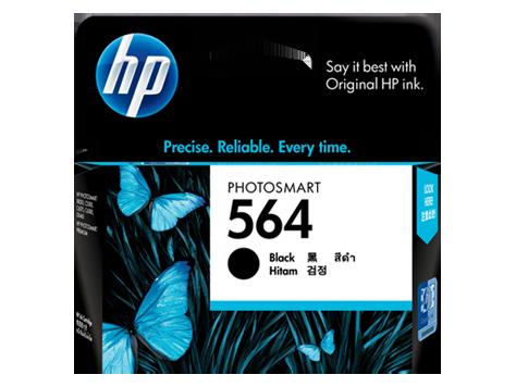 HP 564 ตลับหมึกอิงค์เจ็ท สีดำ Black Original Ink Cartridge (CB316WA)