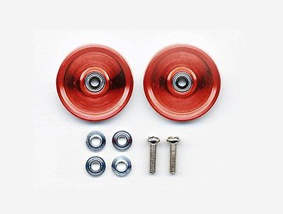 JR HG Alum Ball-Race Rollers - 19mm (Ringless/Red)
