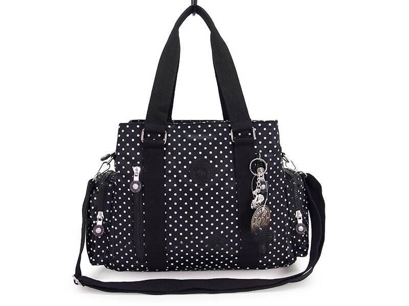 กระเป๋าถือ + สะพายไหล่ สีดำจุด