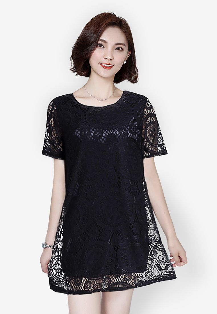 ชุดเดรส Type A Loose Waist Lace