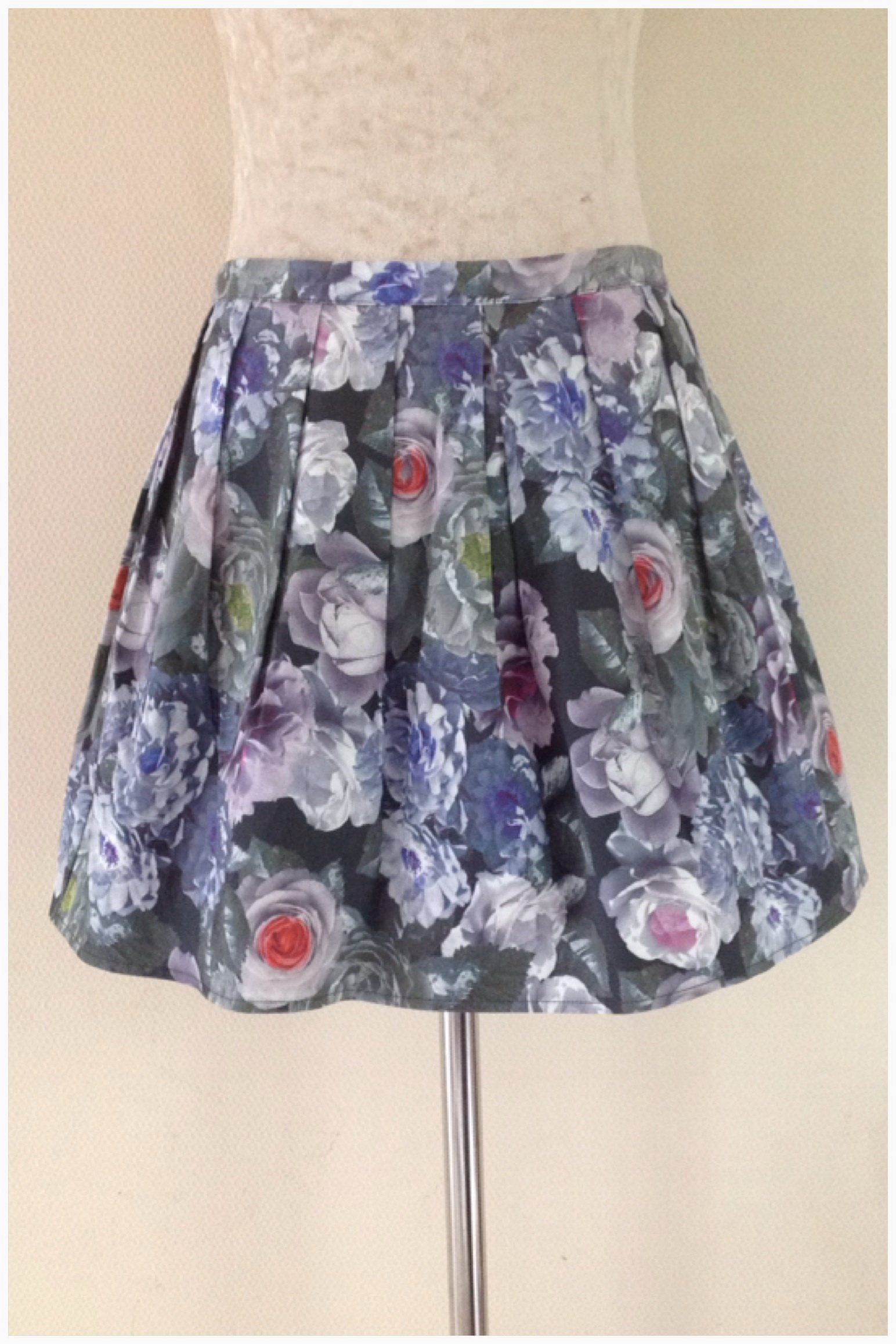 Topshop Floral Skirt Size UK 12