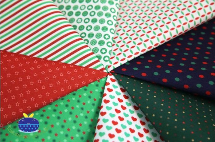 ผ้าสักหลาดเกาหลี พิมพ์ลาย Basic Christmas 1mm มี 8 ลาย ขนาด 42x30 cm /ชิ้น (Pre-order)