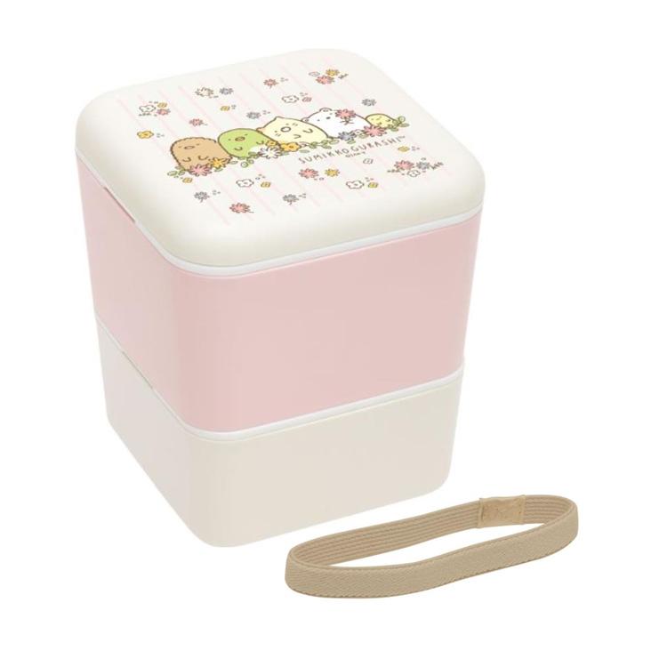 กล่องข้าว 2 ชั้น Sumikko Gurashi สีชมพู