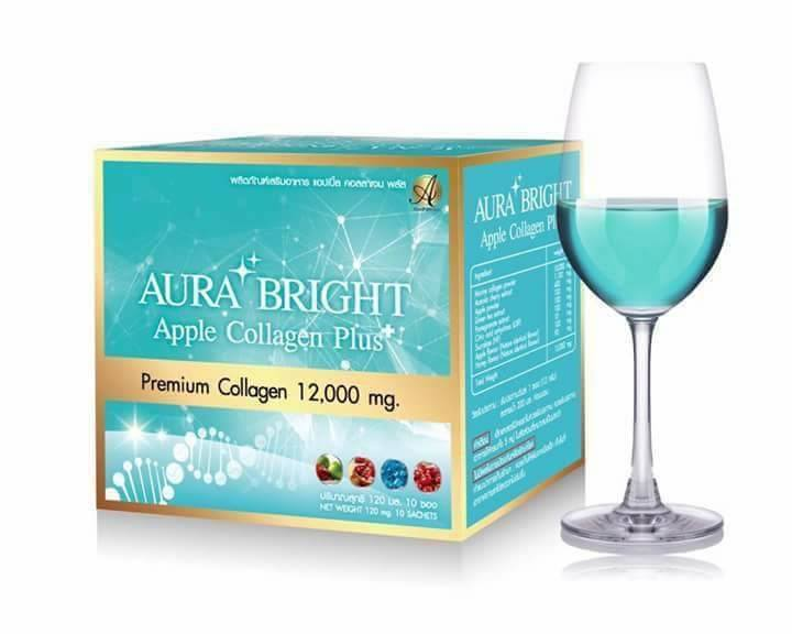 Aura Bright Apple Collagen Plus ออร่า ไบร์ท แอปเปิ้ล คอลลาเจน พลัส เพื่อผิวกระจ่างใส