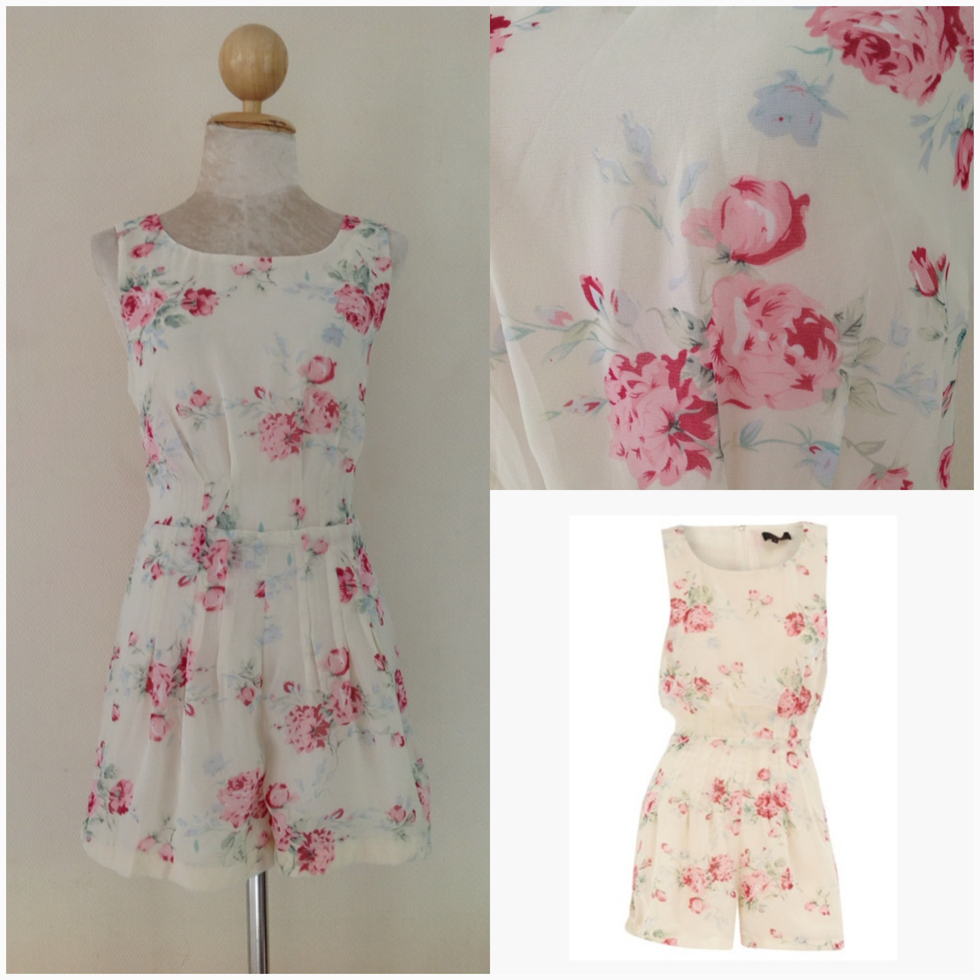 Topshop Lila Floral Playsuit Size uk12