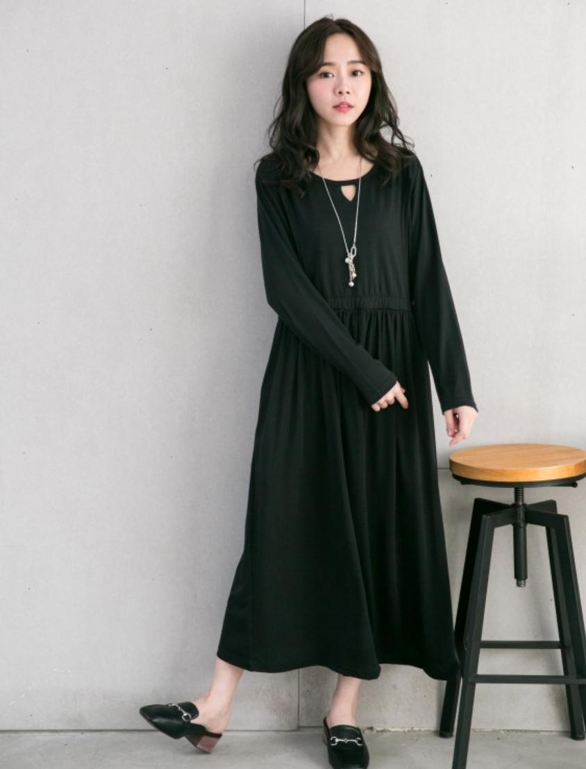 ชุดให้นมสีดำแขนยาว