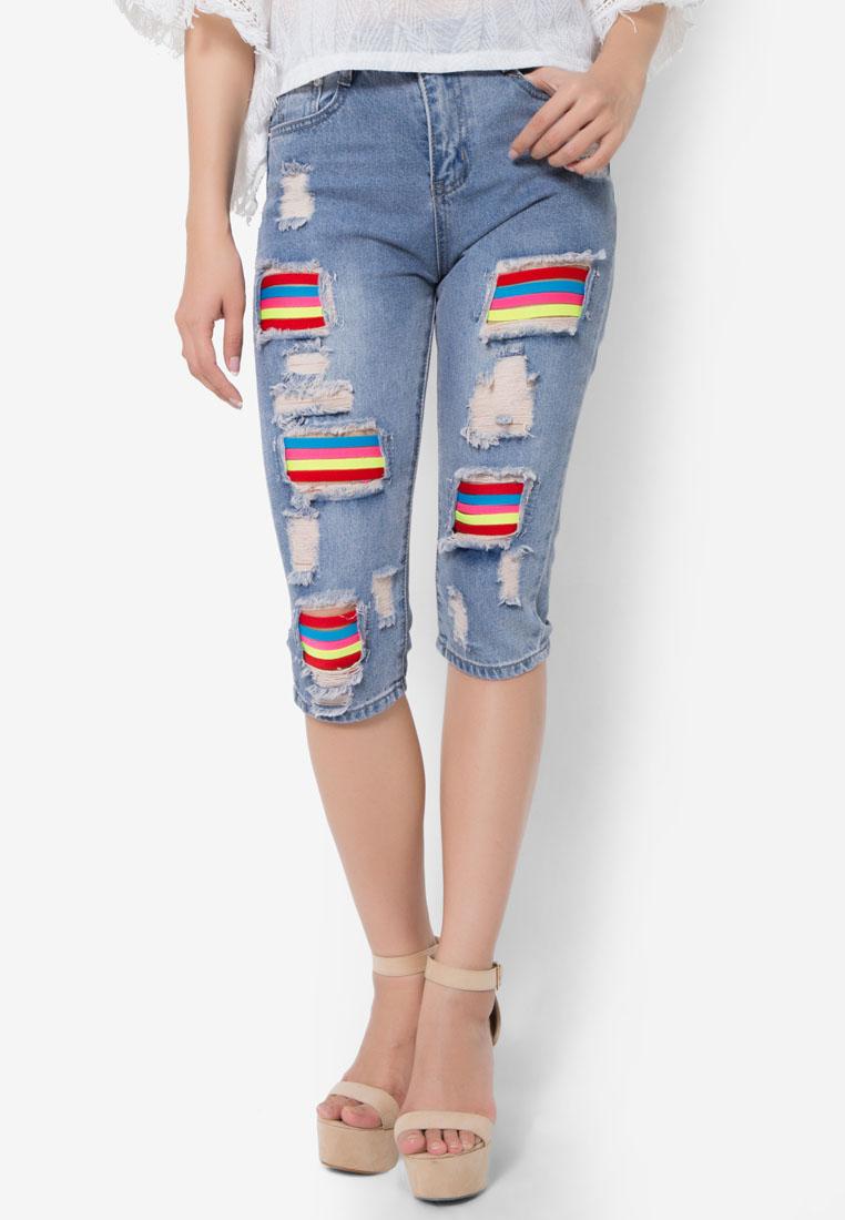 กางเกงขายาว Splash Colour Capri