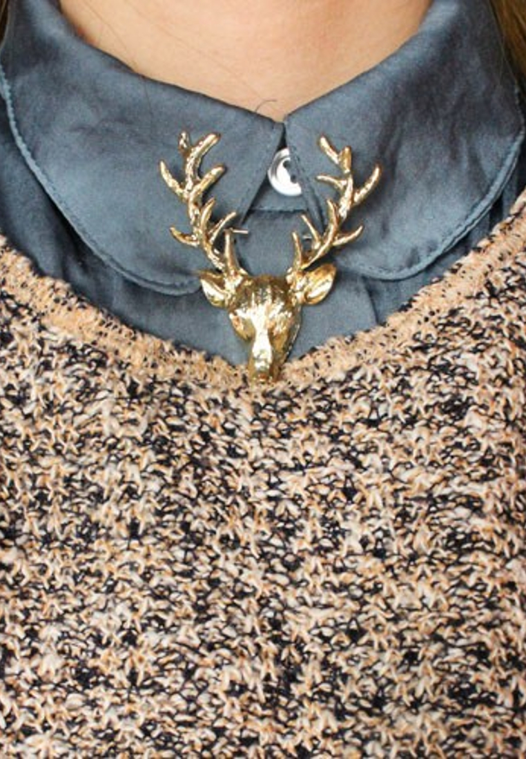 เข็มกลัดติดปกชุดสูท Deer Head Suit Pin
